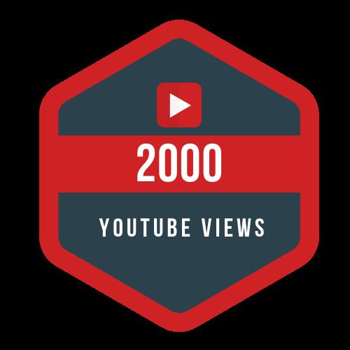 buy 2000 YT Views